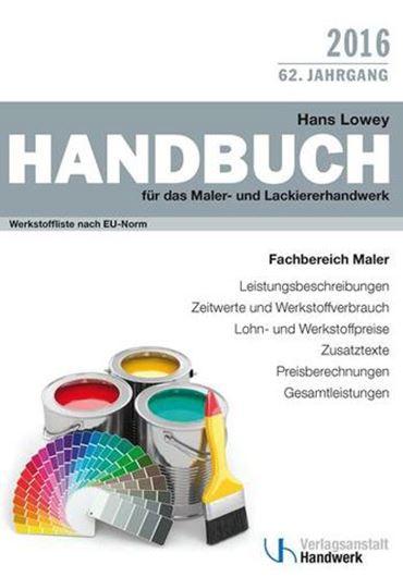 Handbuch für das Maler- und Lackierhandwerk 2016