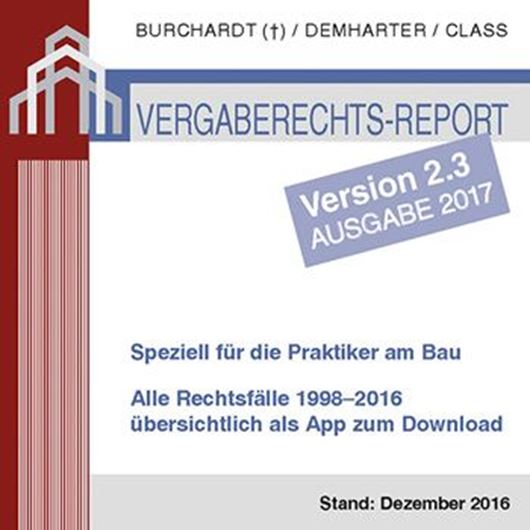 Vergaberechts Report Vers. 2.3 Ausgabe 2017 - App