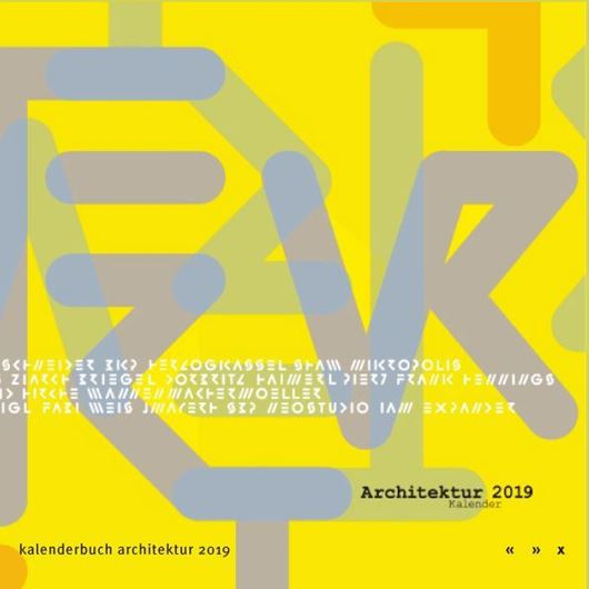 Architektur Kalender 2019