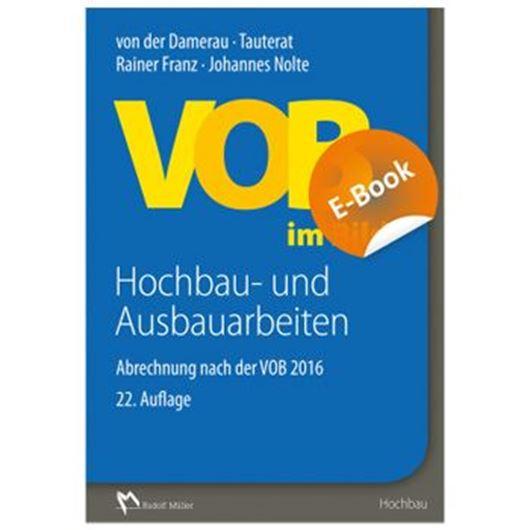 VOB im Bild - Hochbau- und Ausbauarbeiten E-Book