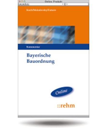 Bayerische Bauordnung - Kommentar - Online Abonnement
