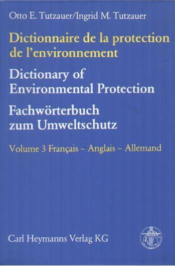 Dictionnaire de la protection de l'environnement