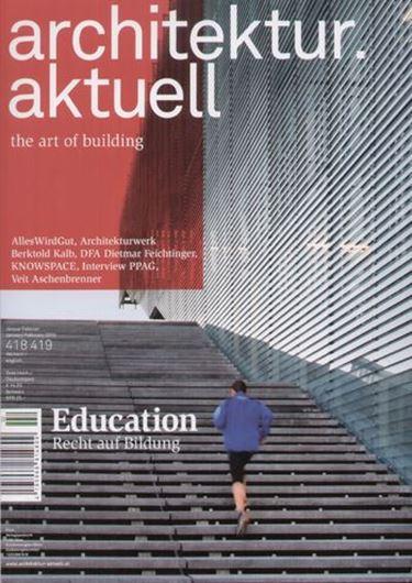Architektur aktuell 418/419: Education
