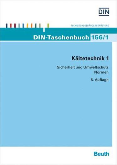 DIN Taschenbuch 156/1 - Kältechnik 1