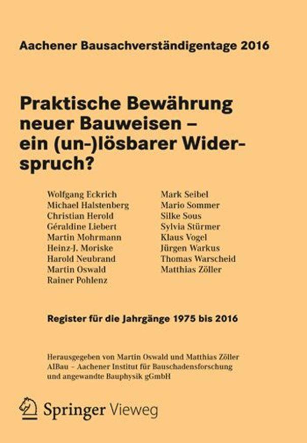 Aachener Bausachverständigentage 2016