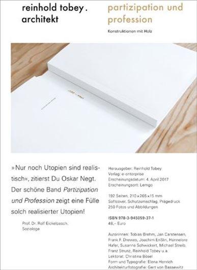 Partizipation und Profession, Reinhold Tobey - Architekt