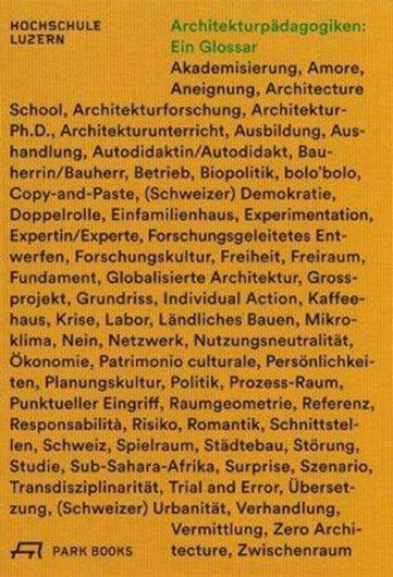 Architekturpädagogiken: Ein Glossar .