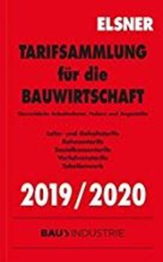 Tarifsammlung für die Bauwirtschaft 2019/2020