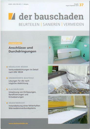 der bauschaden 37: Häusliche Bäder / Erdberührte Bauteile