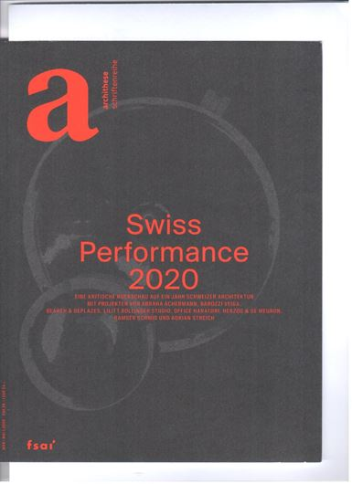 Archithese 1/2020: Swiss Performance 2020