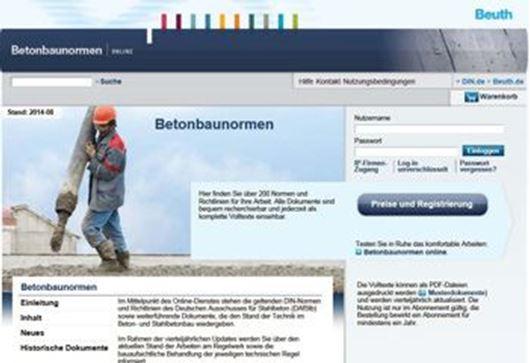 Betonbaunormen online