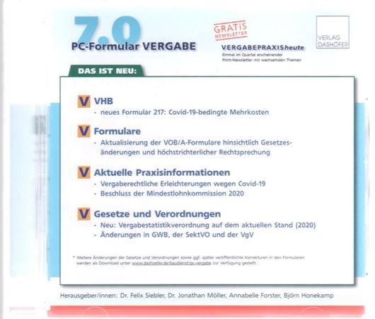 PC-Formular Vergabe CD-ROM - Version 7.0