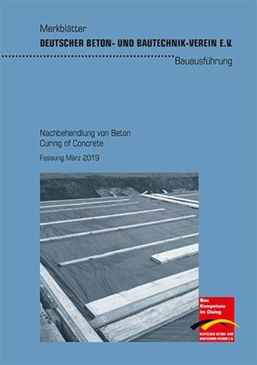 DBV Merkblatt: Nachbehandlung von Beton/ Curing of Concrete